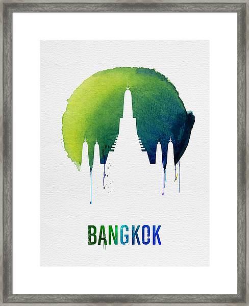 Bangkok Landmark Blue Framed Print