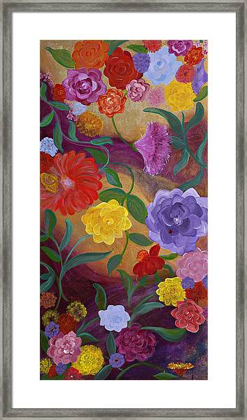 Banner Blossoms Framed Print by Sabra Chili