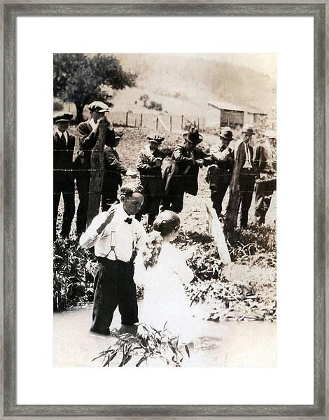 Baptism Framed Print