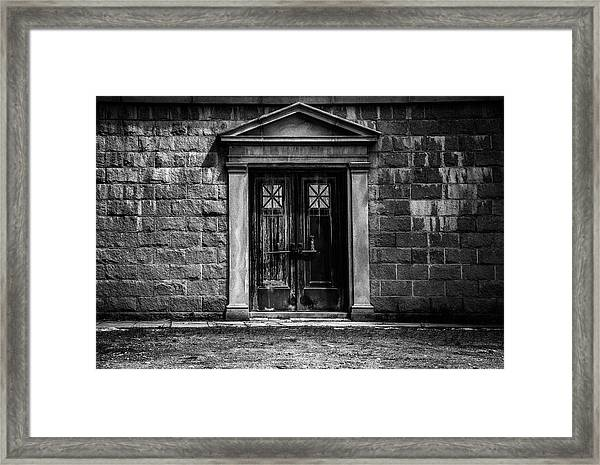 Bar Across The Door Framed Print