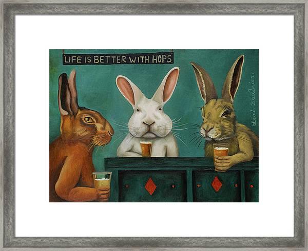 Bar Hopping Framed Print