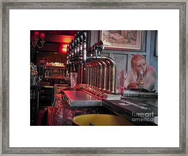 Bar Taps In Kilkenny Framed Print
