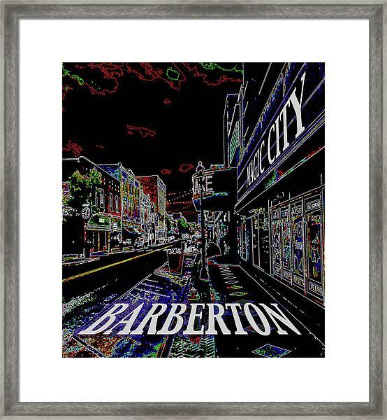 Barberton The Magic City Framed Print