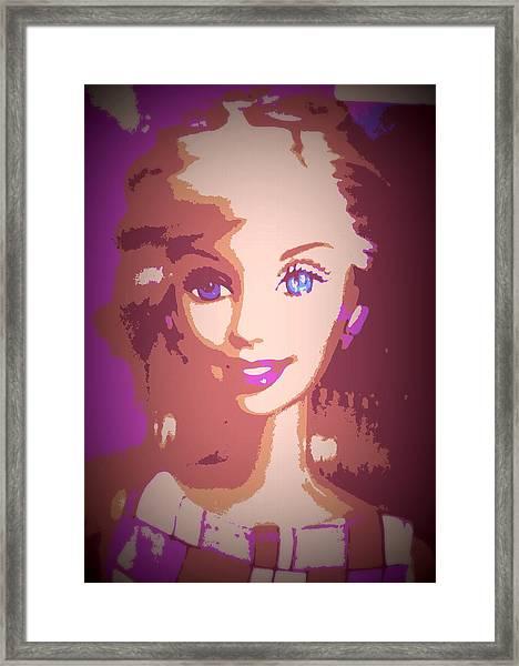 Barbie Hip To Be Square Framed Print