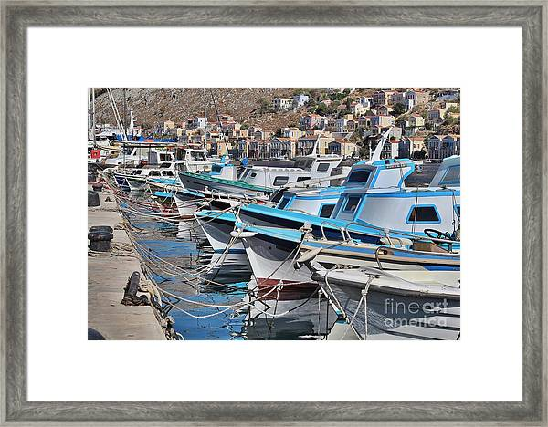 Harbour Of Simi Framed Print