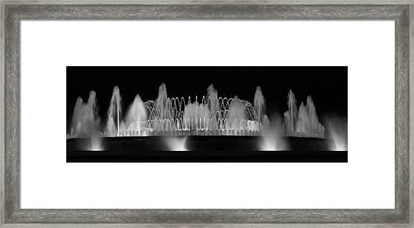 Barcelona Fountain Nightlights Framed Print