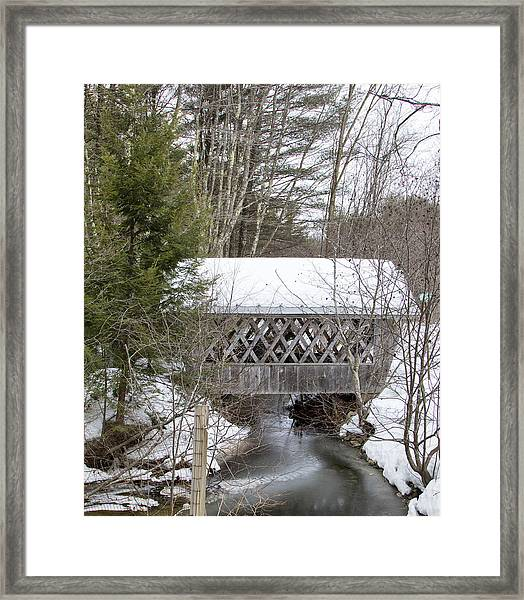 Bare-walker Covered Bridge  Framed Print