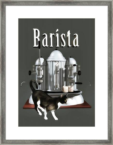 Framed Print featuring the painting Barista by Jan Keteleer