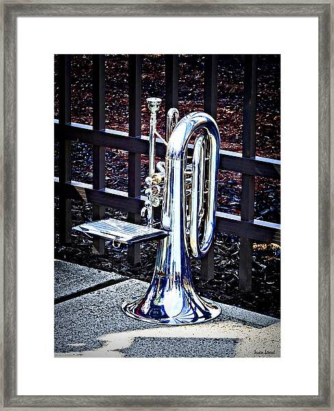 Baritone Horn Before Parade Framed Print