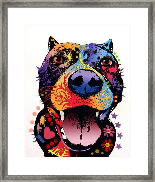 Bark Don't Bite Framed Print by Dean Russo Art