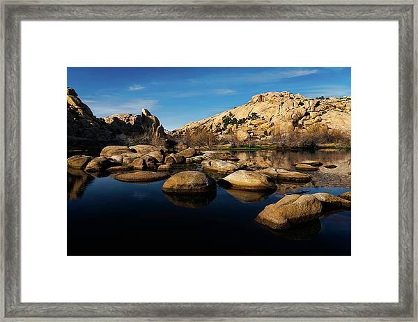 Barker Dam Lake Framed Print