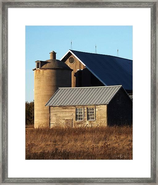 Barn At 57 And Q Framed Print