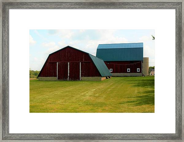 0004 - Barn Brothers Framed Print