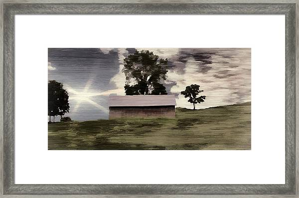 Barn II A Digital Painting Framed Print