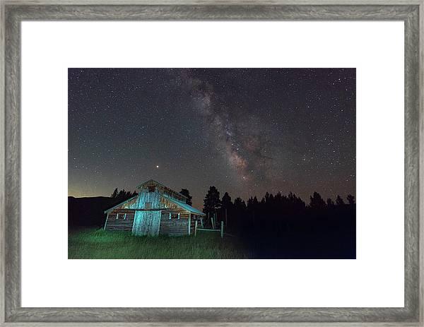 Barn In Rocky Framed Print