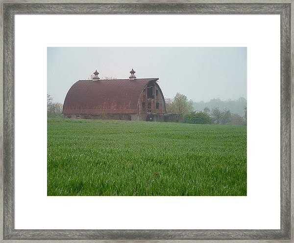 Barn In Summer Framed Print