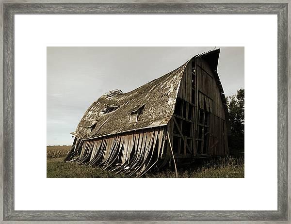 Barn On The Move Framed Print