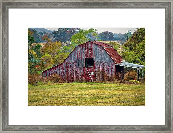 Barn On White Oak Road 2 Framed Print