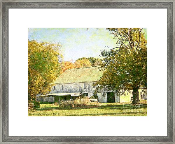 Barn Still Standing Framed Print