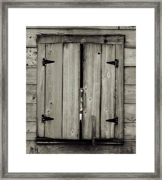 Barn Window Framed Print
