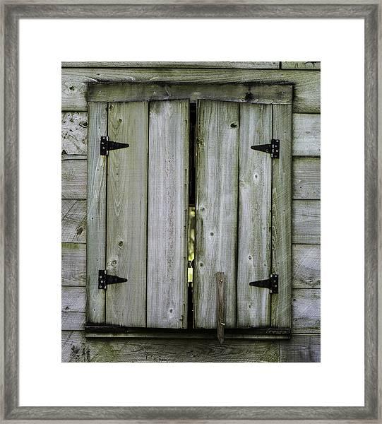 Barn Window, In Color Framed Print