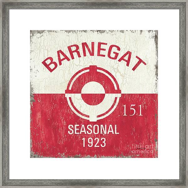 Barnegat Beach Badge Framed Print