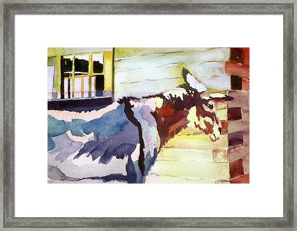 Barnie Framed Print