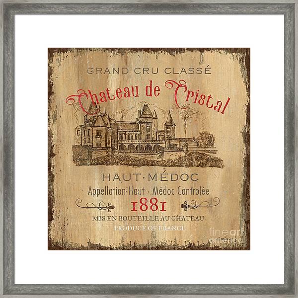 Barrel Wine Label 1 Framed Print
