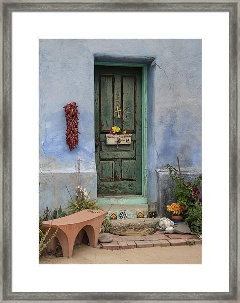 Barrio Door Framed Print