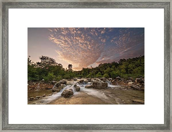 Barton Creek Greenbelt At Sunset Framed Print