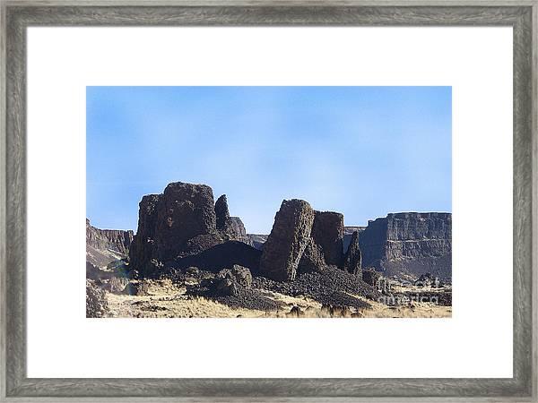 Basalt Columns - The Ice Age Flood Framed Print