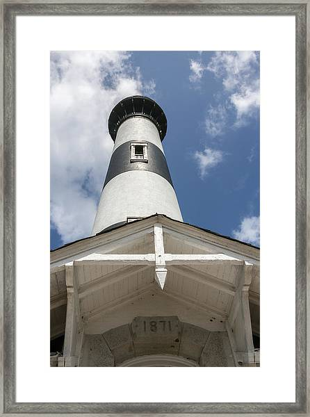Base Of Bodie Island Lighthouse Framed Print
