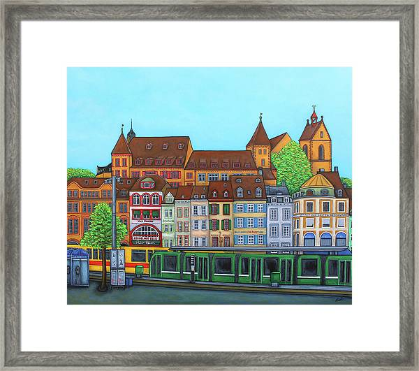 Basel, Barfusserplatz Rendez-vous Framed Print