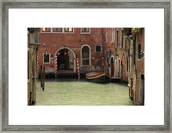 Basin In Venice Framed Print by Michael Henderson