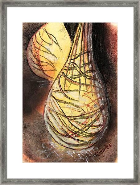 Basket Light Yellow Glow Framed Print
