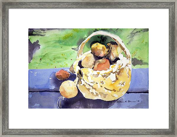 Basket Of Fruit Framed Print