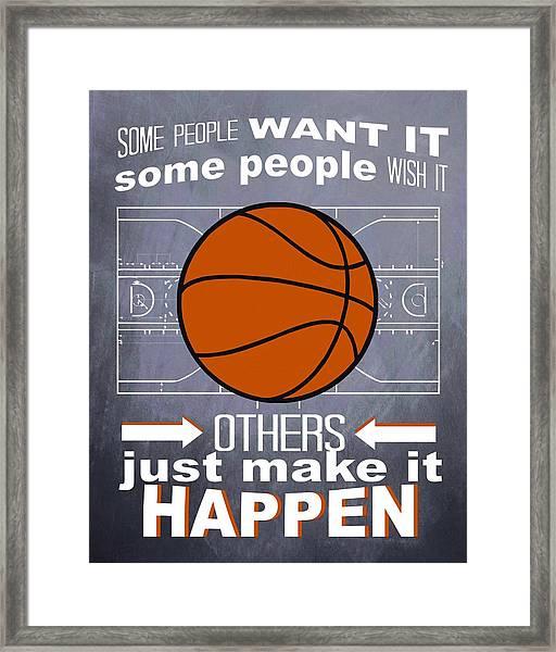 Basketball Inspiration Framed Print