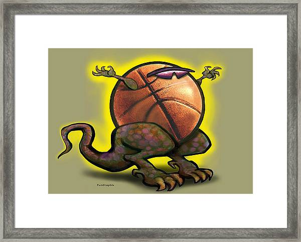 Basketball Saurus Rex Framed Print