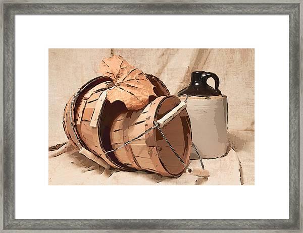 Baskets With Crock I Framed Print