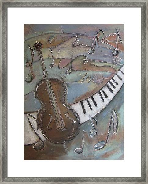 Bass And  Keys Framed Print