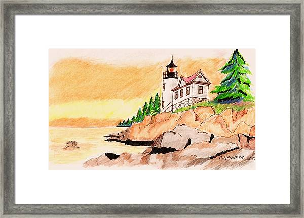 Bass Harbor Head Lighthouse Framed Print by Paul Meinerth