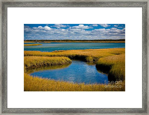 Framed Print featuring the photograph Bass Hole by Susan Cole Kelly