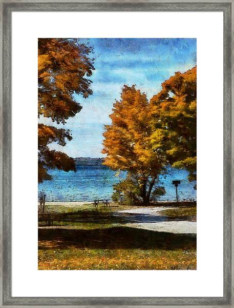 Bass Lake October Framed Print