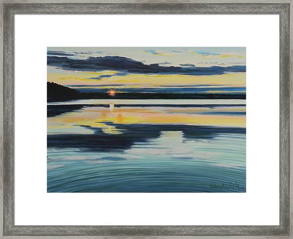 Bass Lake Sunset Framed Print