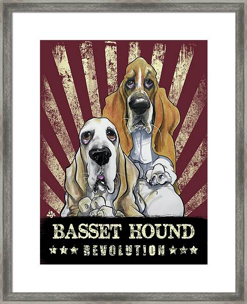 Basset Hound Revolution Framed Print
