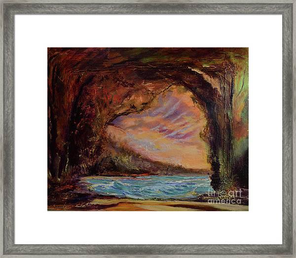 Bat Cave St. Philip Barbados  Framed Print