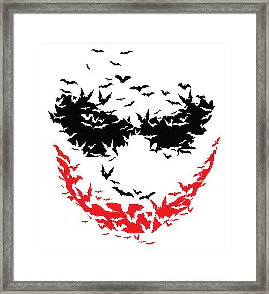 Bat Face Framed Print