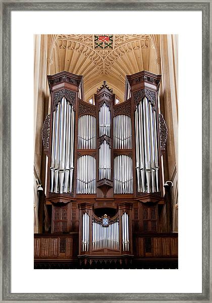 Bath Abbey Organ Framed Print