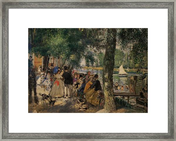 Bathing On The Seine Framed Print by Pierre Auguste Renoir