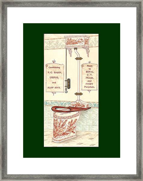 Framed Print featuring the mixed media Bathroom Picture Five by Eric Kempson